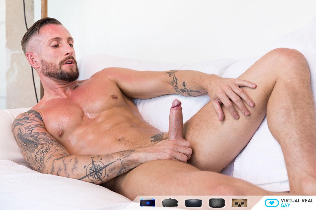Sexy Tattooed Hunk Masturbation